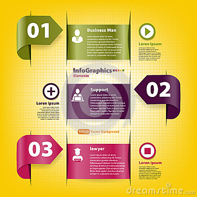 Set for infographics template for business