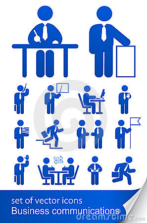 Set informational business icon