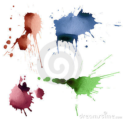 Set of ink splashes