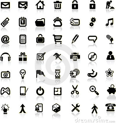 Set of internet icons.