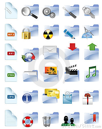 Set of internet and multimedia icons.
