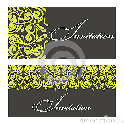 Set of invitations