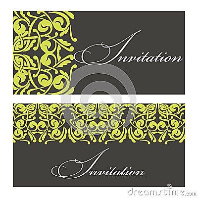 Set of invitations