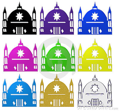 Set of Islamic mosques