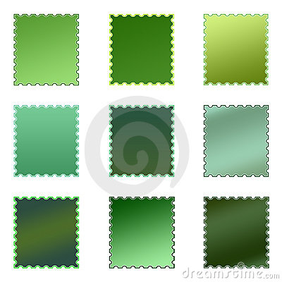 Set of Isolated Colored Stamps