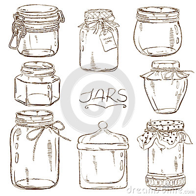 Set Of Isolated Mason Jars Stock Vector Image 51751106