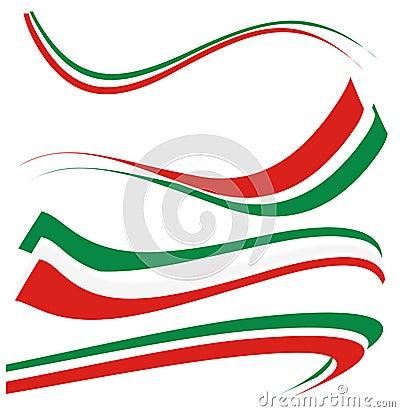Free Set Italian Flag Royalty Free Stock Photo - 33573075