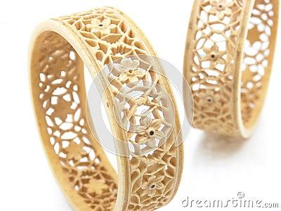 Set of ivory bangles