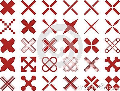 Set of ized Crosses
