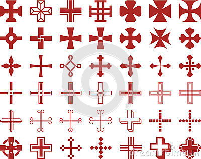Set of ized Crosses