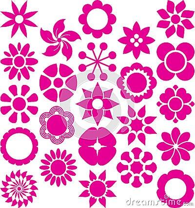 Set of ized Flowers