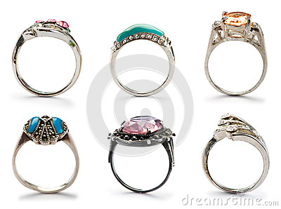 Set of jewellery rings