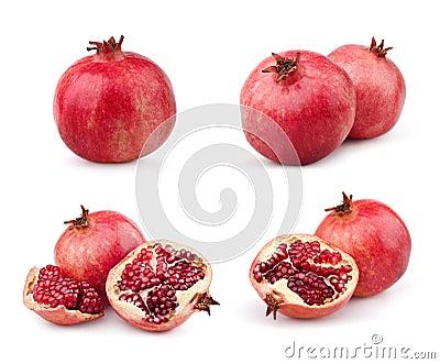 Set of juicy pomegranates