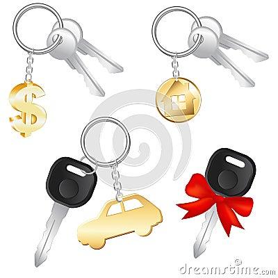 Set Of Keys. Vector