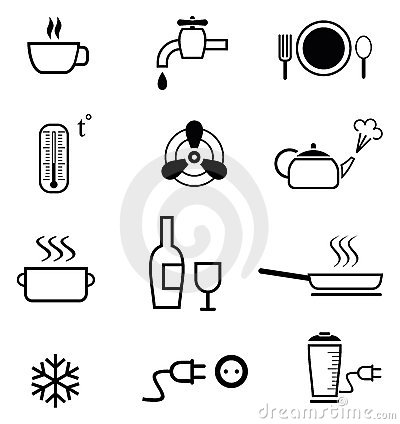 Set of kitchen icons