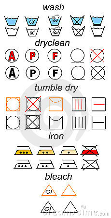 Set of laundry symbols