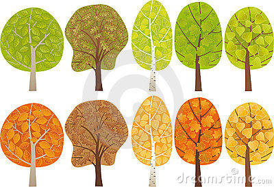 Set of leafy trees