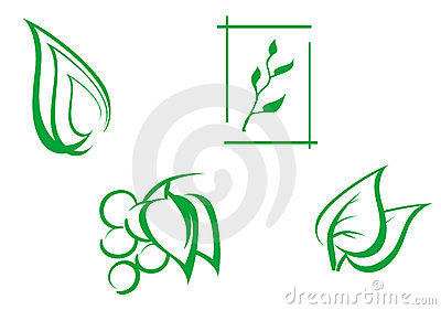 Set of leaves symbols
