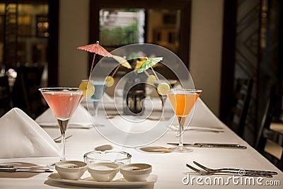 Set of lemonade drinks