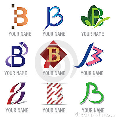 Set of Letter Icons - Letter B