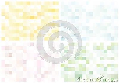 Set of light fantastic mosaic