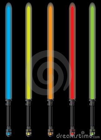Set of light sabers