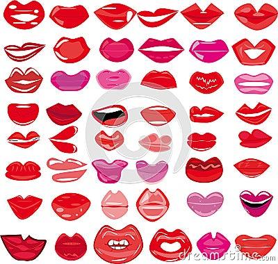 Set of lips