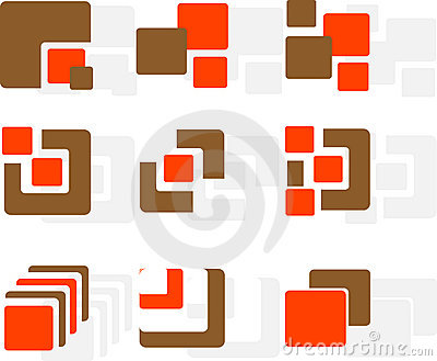Set of logos