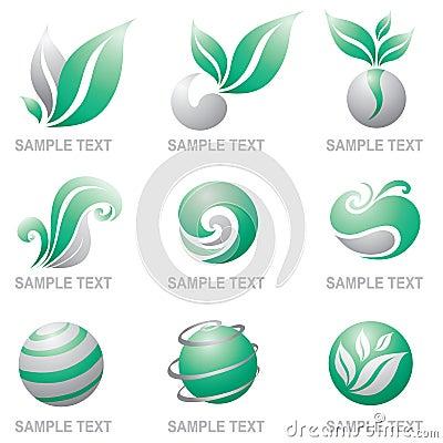 Set of logos of nature