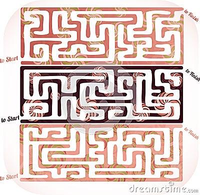 Set of lolipop maze