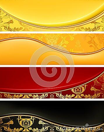 Set of Luxury banners