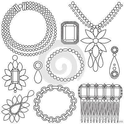 Set of luxury jewels