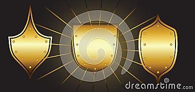 Set of luxury shields