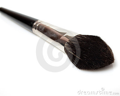 Set of makeup brushes isolated