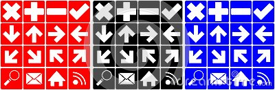 Set of many different icons