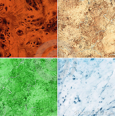 Set of marble slab surface texture