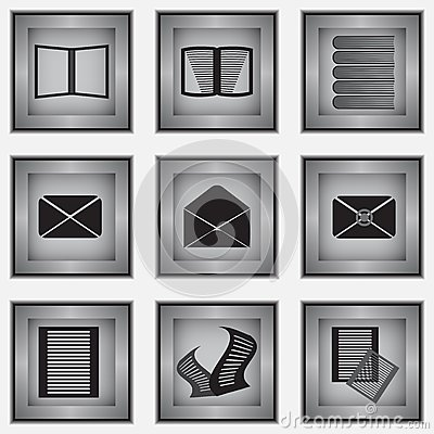 Set 9 materiałów ikon