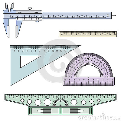 Set of measuring instruments Vector Illustration