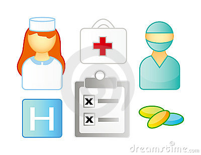 Set of medical icons Editorial Stock Photo
