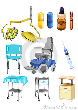 Set of medical objects