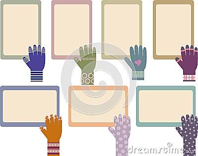 Set of memo board