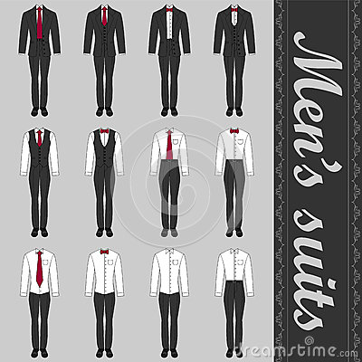 Set of men s suits