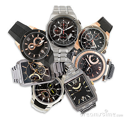 Set of men s watches