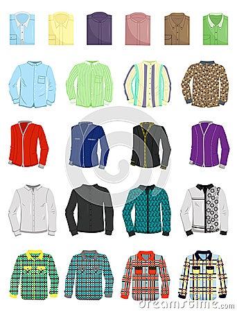 A set of mens shirts