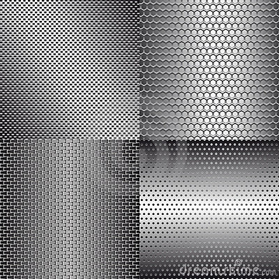 Set of metal backgrounds