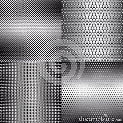 Set of metal backgrounds