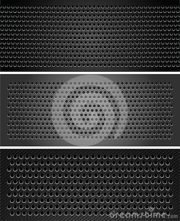 Set metallic perforated sheet