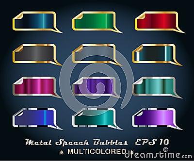 Set of Metallic Stickers