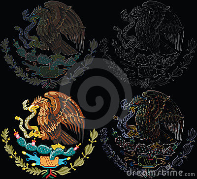 Set of Mexico symbol