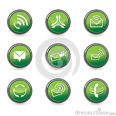 Set of mobile design elements
